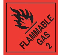 FLAMMABLE GAS SIGN 100mm Sq (pk20)