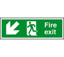 FIRE EXIT SIGN 400x150