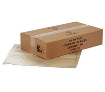 CLEAR HEAVY DUTY SACKS