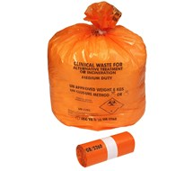 NHS ORANGE SACKS,FLO515 (10x25)